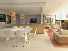Integração total entre os ambientes Dining Table, Furniture, Home Decor, Architecture Office, Environment, Houses, Decoration Home, Room Decor, Dinner Table