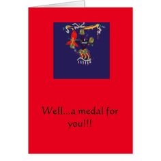 Medal for you card
