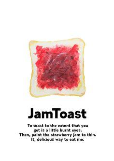「ジャムトースト」のイラストレーション