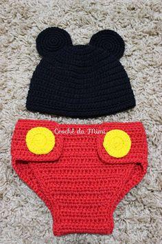 """Conjunto mickey newborn ~ """"Crochê da Mimi"""""""
