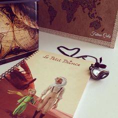 🕰Le petit prince... ♥️ #Cahier #WorldMap #voyager #LePetitPrince #Vintage #Nostalgie 🕰