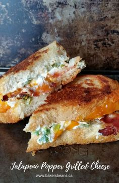 Jalapeno Popper Grilled Cheese  #jalapenopoppers #grilledcheese #bacon via @Bakersbeans