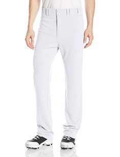 Easton Men's Rival 2 Solid Baseball Pants, White, Large Branded Easton two color elastic waistband Double reinforced knee for durability Open bottom hem opening Two batting glove back pockets polyester Softball Gloves, Baseball Pants, Easton Sports, Fit Team, Batting Gloves, Baseball Equipment, Sports Uniforms, Ideal Fit