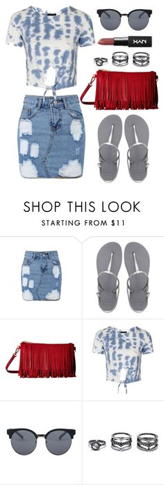 """""""Contest: On a Budget $"""" by lovekaitlin ❤ liked on Polyvore featuring Havaianas, Gabriella Rocha, Topshop, Quay and LULUS"""