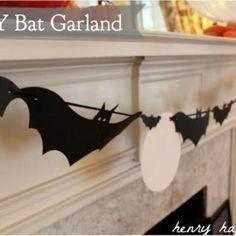 Halloween Bat Garland {Bat}