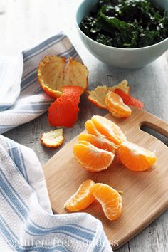 Kale salad with tangerines and quinoa  #glutenfree #vegan