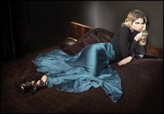 Key Colour Fashion Trends for Autumn 2011 & Winter 2012 ~ Phase Eight AW11 - Lois Super Full Skirt, Polo Neck Jumper, Alexa Filigree Sandals.
