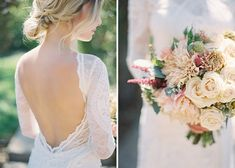 Gorgeous Vineyard Wedding With Boho Flair - Wilkie: From the lace detailing on the brides dress to the beautiful florals of her bouquet, this California wedding is the ultimate boho inspiration!