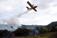 INCENDIOS FORESTALES EN ESPAÑA. El incendio en los bosques de Berango (Bizkaia) ha quemado unas 120-130 hectáreas y está en fase de control, aunque muy cerca de un polígono industrial y del cementerio de la localidad. Unos cien bomberos y agentes forestales de Bizkaia siguen luchando contra el fuego. Los incendios forestales son inusuales en diciembre en España, pero la escasez de precipitaciones y un otoño caliente han dejado gran parte del país vulnerable a los incendios. (AFP, REUTER)