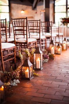 #lanterns, #aisle-decor, #candle  Photography: m three studio - mthreestudio.com  Read More: http://www.stylemepretty.com/little-black-book-blog/2013/04/18/lake-geneva-wedding-from-m-three-studio/