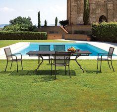 Contemporary Round Garden Table (metal)   CAMBI By Aldo Ciabatti   EMU