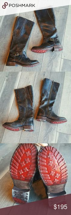 Bed Stu Distressed glaye black lux boot size 8 Gorgeous unique heavily distressed Bed Stu Glaye Black Lux Boots.  Size 8. These are beyond amazing! Very good used condition.  Scratch on back heel as pictured.  There is also intentional scuff/scratch marks throughout for the distressed look. Bed Stu Shoes Combat & Moto Boots