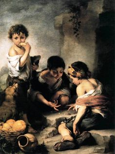 Bartolome Esteban Murillo. Boys Playing Dice. 1675. 1.46 X 1.08 M. Alte Pinakothek, Munich, Germany