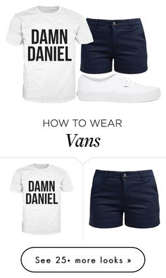 """""""Back at it Again with the White Vans!!!"""" by alove1812 on Polyvore featuring Barbour, Vans, whitevans, AubreysCuteSets and damndaniel"""