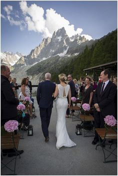 Outdoor wedding in Chamonix by Vanessa Fry Photography