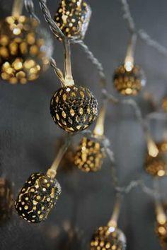 Morrocan style light string.