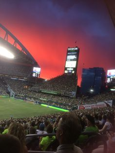 Amazing sky at an amazing home game at Century Link Field against the Portland Timbers on July 13, 2014.  Seattle Sounders FC won 2-0.