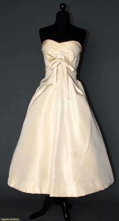 Strapless Ball Gown, Dior Copy, 1955, Augusta Auctions, MAY 8th & 9th, 2012, Lot 357