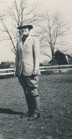 Harriet Rogers, Sweet Briar College Riding instructor from 1924-1963, was an expert horsewoman who developed the College's riding program. The Sweet Briar College Harriet Rogers Riding Center is named in her honor. (1940)  Sweet Briar College, some rights reserved. CC-BY-NC.