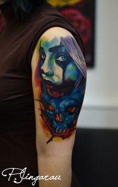 jokergirl and skull