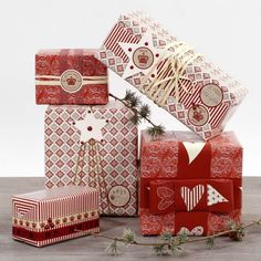 Christmas Themed Reindeer Gift Box Set of 3 Storage Solutions Occasions Lidded