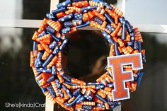 I'm a card holding Gator hater but I am totally going to take the blue out, change the F to a T and rock a Vols wreath this football season!