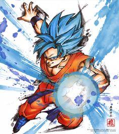 DBZ Son Goku Super Saiyajin azul