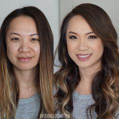 Makeup, bridal makeup, natural makeup, before and after, OC makeup artist, Asian makeup