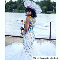Zulu Traditional Wedding Dresses, Zulu Traditional Attire, South African Traditional Dresses, Traditional Outfits, African Bridal Dress, African Print Dresses, African Dress, African Style, African Prints