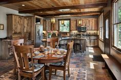 Photos - Timber and log home kitchens and dining rooms