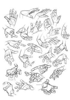 Character Design Collection: Hands Anatomy - Daily Art, references