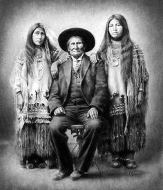 Geronimo and Nieces. One of the first and best National Homeland Security Chiefs!  God Please Send America some men and women with backbone!  Like those that once walked her shorelines and deep forests!  For the spirit of defiance - a lesson they have provided for all our benefit.  For their example of fearlessness in the face of certain calamity!  Heroes!