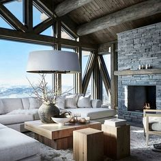 Cozy Living Room Decor for Small, Modern, Boho or Rustic Living Rooms Chalet Interior, Interior Design, Interior Decorating, Decorating Ideas, Cozy Living Rooms, Living Room Decor, Living Area, Villa Design, House Design