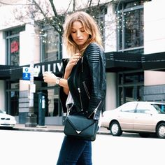 Click the photo to shop the look | The August Diaries wearing an ASOS leather biker jacket, and Alexander Wang bag | Follow @liketoknowit on Pinterest for more outfit inspiration #liketkit
