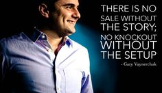 No Knockout without the setup. Gary Vaynerchuk #quote #SocialMedia #GaryVee