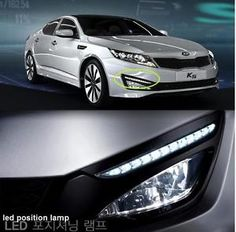 For Kia Optima 11-2013 A Set LED Daytime Running Lamps DRL Drive Lamp Auto Parts