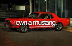 Bucket List - Own a mustang