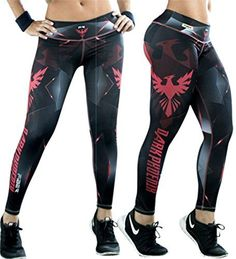 Fiber Dark Phoenix Leggings Superhero Yoga Pants Women's ...