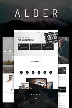 Alder - OnePage WordPress Theme Big Screenshot