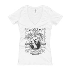 V-Neck | Woman in Oratory T-Shirt
