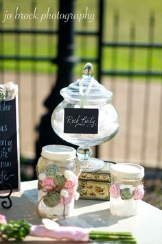 shabby chic candy buffet