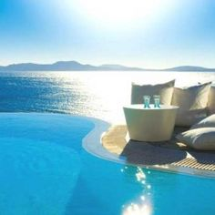 #poolExotic Resort in Greek God Apollo's Birthplace: Mykonos Grand Hotel