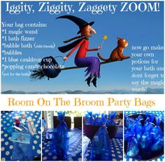 A Room On The Broom Party: Party bags - Mummy Mishaps First Birthday Parties, 4th Birthday, Birthday Ideas, Birthday Cake, Kindergarten Party, Birthday Party Invitation Wording, Room On The Broom, Party Bags, Party Party