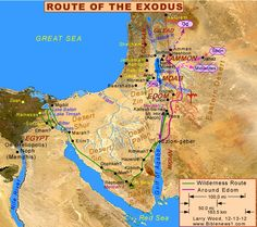 wanderings of israel for 40 years | ... israel left egypt on the 15th day of the 1st month of the year a