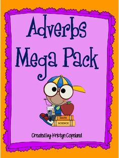 This adverbs mega pack will ideally work for 3rd-5th grade.  It covers what adverbs adverbs are and how to identify them, comparative and superlative adverbs, and distinguishing between an adverb and adjective  This pack includes:  3 different adverb flipbooks with instructions 2 different adverb Hunt Sheets  Adverb Charades iAdverbs Activity  Verb or Adverb Sorting Center (Football Theme) w/recording sheet & answer sheet Adverb or Adjective Sorting Center (Circus Theme) w/recording ...