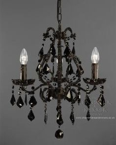 black chandelier cute for my walk in.