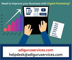 Are you looking for best digital marketing services? Adiguru services offers you the best and cost-effective digital marketing services for any kind of online business needs. Online Marketing Services, Social Media Services, Seo Services, Content Marketing, Social Media Marketing, Hyderabad, Online Business, Improve Yourself, Website