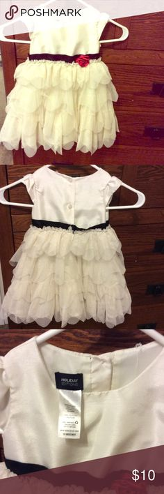 Dress 18 months little girl dress.  Great for holidays, in great shape! holiday editions Dresses Formal