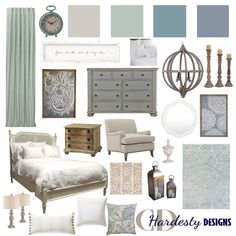 What to Expect with an E-Design Project - eDesign Tribe Love the look of this bedroom design? Shop the look of this classic styled bedroom with a calming blue, aqua and grey color scheme. Interior Designer Cost, Interior Design Boards, Interior Design Services, Interior Styling, Master Bedroom Design, Home Bedroom, Bedroom Decor, Bedrooms, Farmhouse Style Bedding