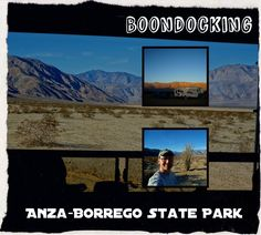 Boondocking in Anza-Borrego State Park - free dry camping in the middle of gorgeous desert vistas http://www.loveyourrv.com/tag/dry-camping/ #RV #Dry #Camping